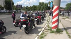 Protest în fața sediului Inspectoratului General al Poliției față de accidentul de ieri din Găgăuzia soldat cu decesul unui motociclist