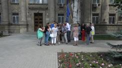 """Flashmob organizat de Asociația """"UNIREA-ODIP"""" cu genericul """"Cerem SIS-ului să scoată interdicția aplicată lui George Simion de a intra în Republica Moldova"""""""