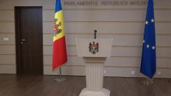 Briefing de presă susținut de Președintele Comisiei securitate națională, apărare și ordine publică, Chiril Moțpan, referitor la activitatea comisiei parlamentare de profil