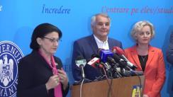 Conferință de presă susținută de ministrul Educației Naționale, Ecaterina Andronescu