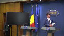 Conferință de presă susținută de ministrul Culturii și Identității Naționale, Daniel Breaz