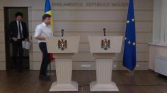 Conferință de presă susținută de deputații fracțiunii PAS, Radu Marian și Dan Perciun