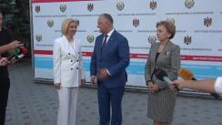 Conferință de presă susținută de Președintele Republicii Moldova, Igor Dodon, Președintele Parlamentului Republicii Moldova, Zinaida Greceanîi, și bașcanul Găgăuziei, Irina Vlah