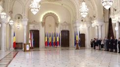 Ceremonia publică de semnare a Acordului Politic Național pentru consolidarea parcursului european al României de către Uniunea Democrată Maghiară din România și Grupul parlamentar al minorităților naționale