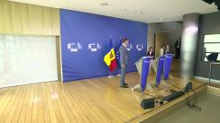 Conferință de presă susținută de Prim-ministrul Republicii Moldova, Maia Sandu, și Comisarul european pentru politica de vecinătate și negocieri de extindere, Johannes Hahn