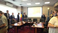 Conferință de bilanț susținută de ministrul Economiei al României, Niculae Bădălău