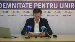 Conferință de presă susținută de conducerea Partidului Liberal pe mai multe subiecte stringente