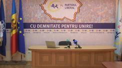 """Conferință de presă susținută de conducerea Partidului Liberal cu tema """"Inacțiunile și complicitatea guvernului Sandu care duc la menținerea statului captiv"""""""