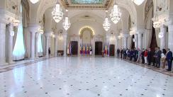 Ceremonia de decorare a Simonei Halep de către Președintele României, Klaus Iohannis