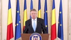 Declarație de presă susținută de Președintele României, Klaus Iohannis, după ședința CSAT din 30 iulie 2019