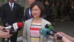 Declarația Prim-ministrului Republicii Moldova, Maia Sandu, după ceremonia de revenire a militarilor moldoveni de la exercițiul Agile Hunter din SUA