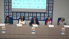 Conferință de presă organizată de Federația Română de Gimnastică Ritmică cu ocazia primei competiții de Gimnastică Ritmică de tip World Challenge Cup găzduită de România