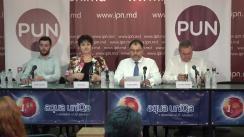 """Conferință de presă organizată de Partidul Unității Naționale cu tema """"Prezentarea denunțului penal contra lui Igor Dodon. Argumente si fapte"""""""