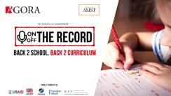 "Evenimentul ""On&Off the record"". Tema: Back 2 school. Back to curricula"