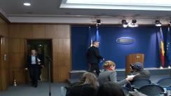 Declarațiile de presă ale Premierului interimar Cătălin Predoiu