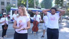Flashmob organizat de Moldovan National Youth Orchestra în troleibuz prin care dă startul la cea mai cool expediție muzicală
