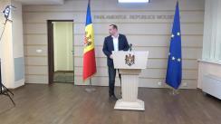 Briefing susținut de fracțiunea parlamentară a Partidului Socialiștilor din Republica Moldova