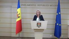 Briefing susținut de Președintele Comisiei mediu și dezvoltare regională, Violeta Ivanov