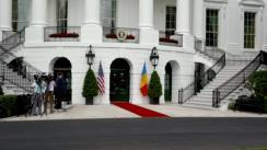 Sosirea Președintelui României, Klaus Iohannis, la Casa Albă, Washington D.C.