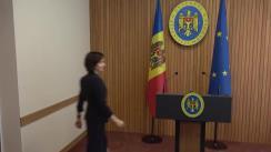 Declarațiile Prim-ministrului Republicii Moldova, Maia Sandu, după ședința Guvernului Republicii Moldova din 21 august 2019
