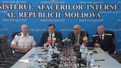 Briefing susținut de Ministrul Afacerilor Interne al Republicii Moldova, Andrei Năstase, șeful IGSU, Mihail Harabagiu, și secretarul de stat al MAI al României, Raed Arafat