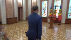 Declarațiile Președintelui Republicii Moldova, Igor Dodon, după ședința Consiliului Suprem de Securitate din 23 august 2019