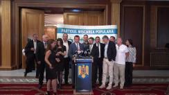 Conferință de presă după ședința Colegiului Național al Partidului Mișcarea Populară