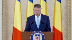 Primirea de către Președintele României, Klaus Iohannis, a șefilor de misiuni și a consulilor generali cu prilejul Reuniunii Anuale a Diplomației Române