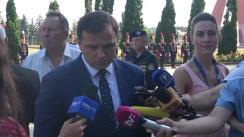 """Declarațiile Ministrului Afacerilor Interne, Andrei Năstase, după depunerile de flori la monumentul """"Maica îndurerată"""" cu prilejul Zilei Independenței Republicii Moldova"""