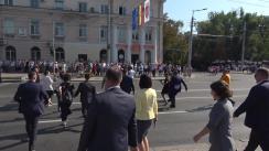 Declarațiile Președintelui Republicii Moldova, Igor Dodon, după depunerile de flori la monumentul Ștefan cel Mare și Sfânt cu prilejul Zilei Independenței Republicii Moldova