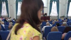 """Prelegerea publică """"Limba română - memorie și stindard"""", de către scriitorul Arcadie Suceveanu"""
