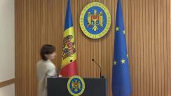Declarațiile Prim-ministrului Republicii Moldova, Maia Sandu, după ședința Guvernului Republicii Moldova din 30 august 2019
