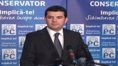 Conferință de presă susținută de președintele Partidului Conservator, Daniel Constantin