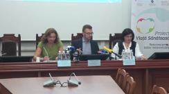 """Conferința de presă organizată de Ministerul Sănătății, Muncii și Protecției Sociale dedicată lansării campaniei de informare și educare a cetățenilor """"Redu sarea din mâncare"""", realizată cu susținerea Agenției Elvețiene pentru Dezvoltare și Cooperare"""