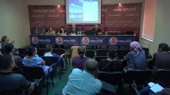 """Conferință de presă susținută de Fiodor Ghelici, președintele Asociației obștești """"Moldova mea"""", cu tema """"Procurorii vând articolele penale!. Asasinul a oferit un apartament de 4 camere pentru ca procurorii să-i schimbe articolul """"omor"""" pe articolul """"huliganism"""""""
