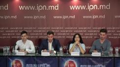 """Conferința de presă organizată de Mișcarea de tineret """"Urmașii lui Ștefan"""" cu tema """"Fenomenul corupției în școlile și liceele din Republica Moldova și metodele de contracarare a acestora"""""""