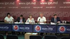 """Conferință de presă organizată de Compania """"A5 Plus Nepremicnicne poslovanje d.o.o"""" cu tema """"Atenționăm autoritățile Republicii Moldova asupra tentativei de expropriere a investițiilor companiei slovene pe teritoriul Republicii Moldova"""""""