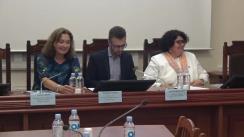 """Conferința de presă organizată de Ministerul Sănătății, Muncii și Protecției Sociale și Biroul de cooperare al Elveției în Republica Moldova, în parteneriat cu Banca Mondială și Crucea Roșie din Elveția, cu ocazia lansării proiectului """"Progresul cu privire la acoperirea universală cu servicii de sănătate în Moldova"""""""
