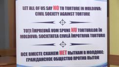 """Conferință de presă organizată de Institutul pentru Democrație cu tema """"Lansarea programului de sub-granturi pentru ONG-urile din Republica Moldova, privind combaterea torturii"""""""