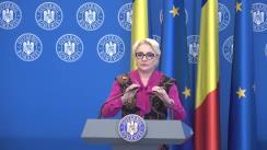 Declarație de presă susținută de Prim-ministrul României, Viorica Dăncilă