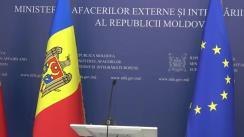 Conferință de presă susținută de Ministrul Afacerilor Externe și Integrării Europene al Republicii Moldova, Nicu Popescu, privind rezultatele vizitelor de lucru recente în Ucraina și Federația Rusă