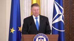 Ceremonia de decorare de către Președintele României, Klaus Iohannis, a alpinistului Horia-Dan Colibășanu