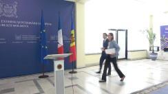 Conferință de presă susținută de Ministrul Afacerilor Externe și Integrării Europene al Republicii Moldova, Nicu Popescu, și Secretarul de stat pentru Afaceri Europene al Franței, Amélie de Montchalin