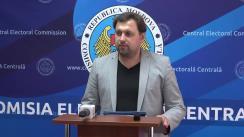 Declarațiile lui Maxim Lebedinschi după ședința Comisiei Electorale Centrale din 14 septembrie 2019