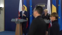 Declarație de presă susținută de Prim-ministrul României, Viorica Dăncilă, și Prim-ministrul Republicii Polone, Mateusz Morawiecki