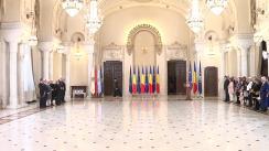 Ceremonia de decorare de către Președintele României, Klaus Iohannis, a unor personalități din domeniul culturii