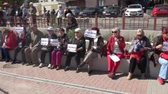 Protest în susținerea deputatei Partidului ȘOR - Reghina Apostolova