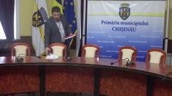Briefing susținut de consilierii municipali ai PSRM cu privire la lansarea unei licitații publice în capitală