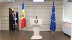 Conferință de presă susținută de Președintele Comisiei de anchetă pentru elucidarea circumstanțelor de fapt și de drept privind tentativa de puci anticonstituțional întreprinsă de Partidul Democrat din Moldova prin intermediul Curții Constituționale și al Procuraturii Generale, Mihai Popșoi