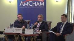 Conferință de presă organizată de AmCham Romania pe tema politicii fiscale